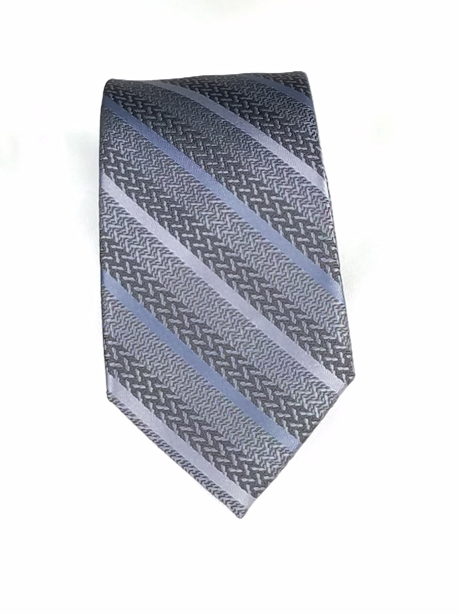 Men's Slim Tie - MS3200 BLACK/SILVER STRIPE
