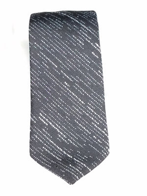 Men's Slim Tie - MS3000 BLACK/SILVER STRIPE