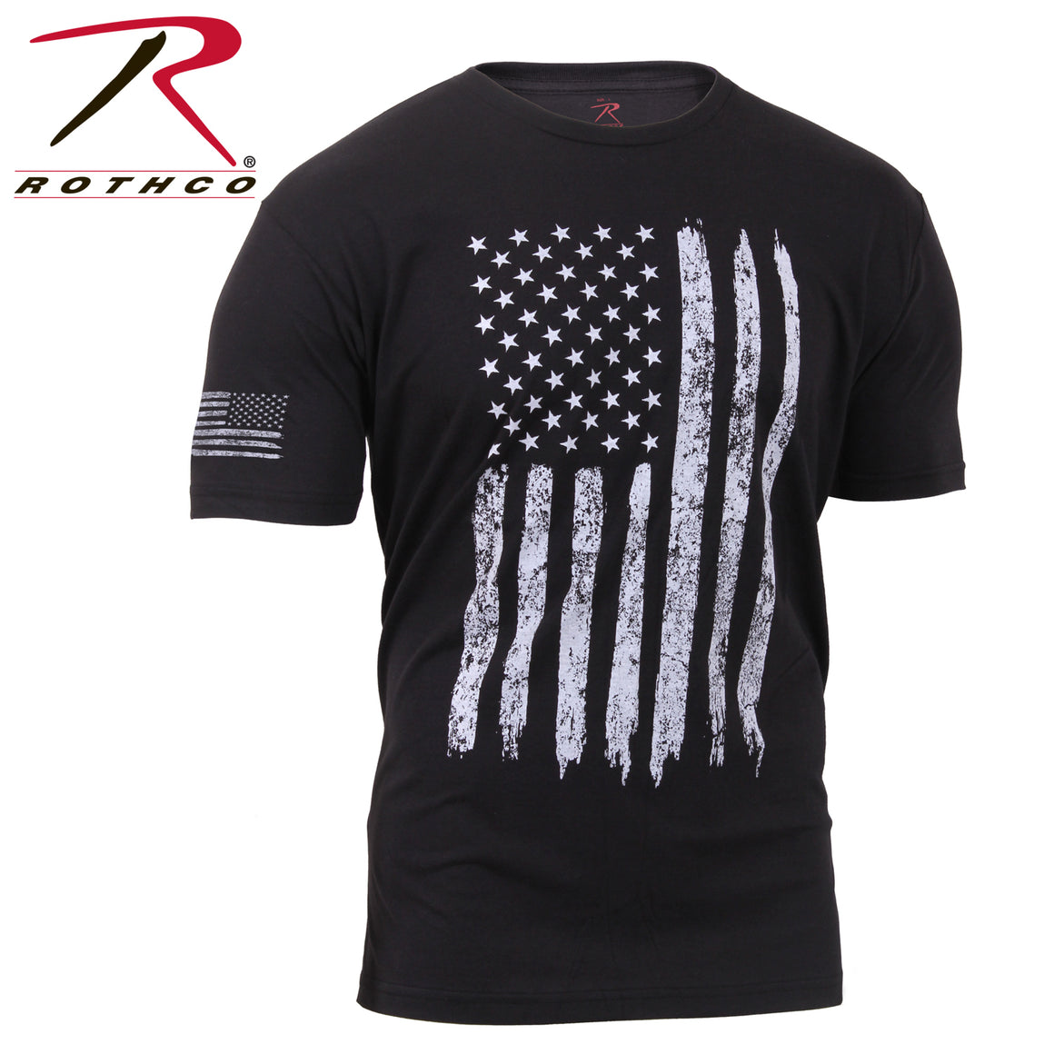 Rothco Distressed US Flag Athletic Fit T-Shirt