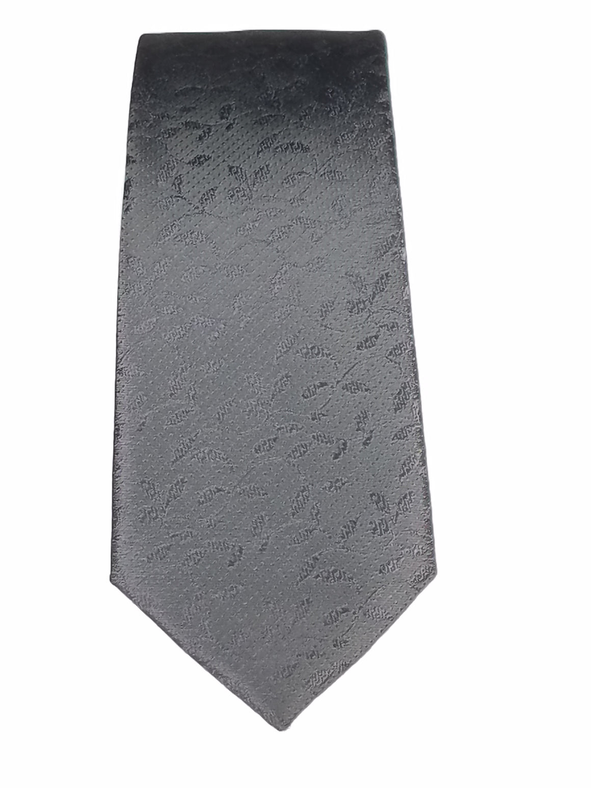 Men's Slim Tie - MS3200-BLACK LEAF PATTERN