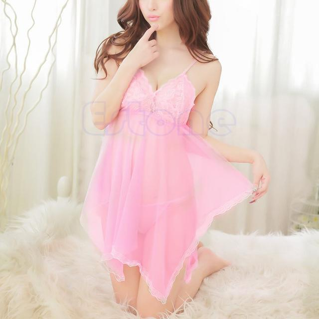 f6968a89d7 Sexy Lace Lingerie Babydoll +G Dtring Nightgown – Donazil