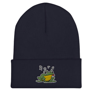 Forg Embroidered Snug Cuffed Beanie