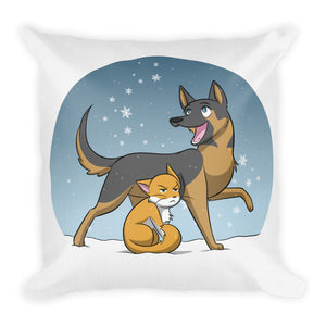 I Love/Hate Winter! Premium Throw Pillow