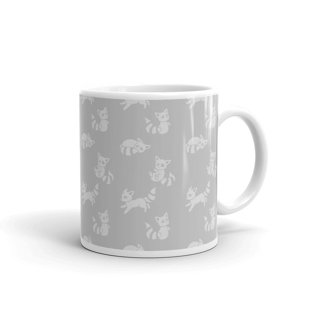 Raccoon Tiled Mug