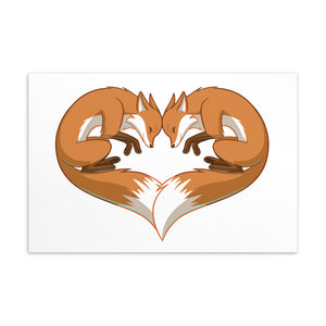 "Fox Heart 6""x4"" Postcard"