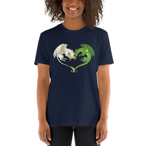 Unicorn and Dragon Heart T-Shirt (unisex)