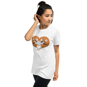 Fox Heart T-Shirt (unisex)