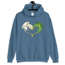 Load image into Gallery viewer, Unicorn and Dragon Heart Hoodie (unisex)