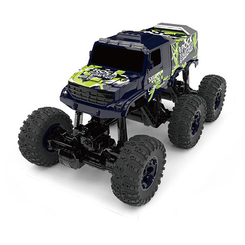 RW 1:8 Scale 6X6 Cross Country Rock Crawler R/C Monster Truck in Blue