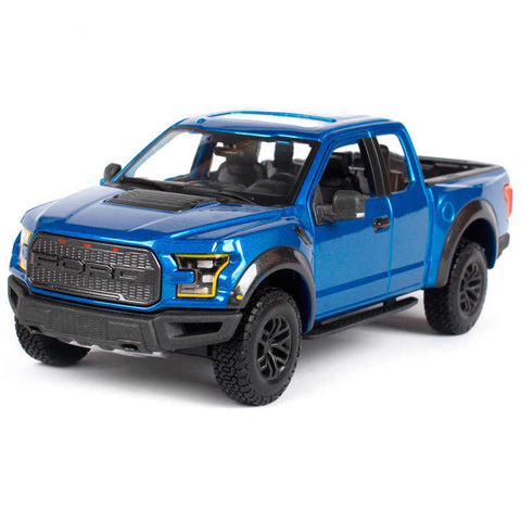 MAISTO 1:24 Die-Cast SE Trucks 2017 Ford Raptor in Blue