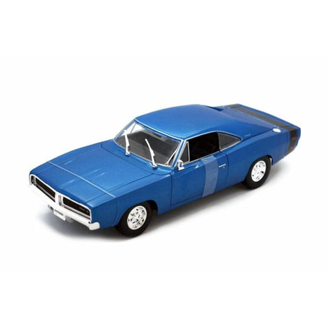 MAISTO 1:18 Scale Die-Cast Special Edition 1969 Dodge Charger R/T Blue
