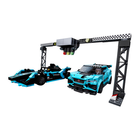 LEGO® Speed Champions Formula E Panasonic Jaguar Racing GEN2 car & Jaguar I-PACE eTROPHY