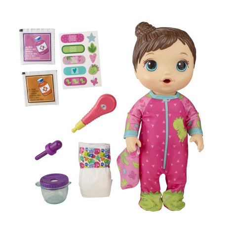 BABY ALIVE Mix My Medicine Baby Doll in Dinosaur Pajamas