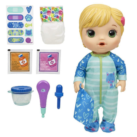 BABY ALIVE Mix My Medicine Baby Doll in Kitty-Cat Pajamas