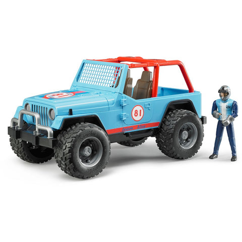 BRUDER Jeep Cross Country Racer in Blue With Driver