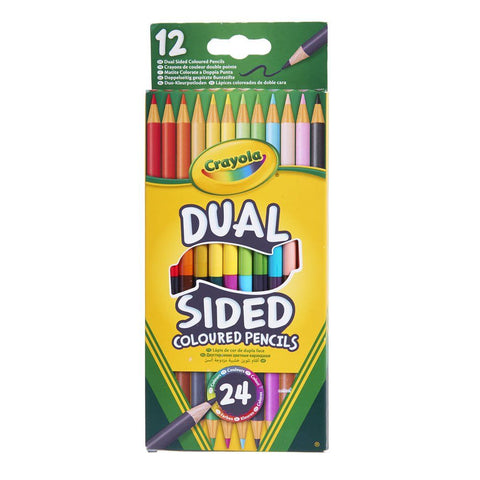 CRAYOLA Dual Sided Coloured Pencils 12