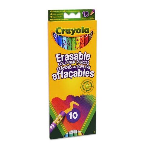 CRAYOLA Erasable Coloured Pencils 10