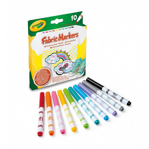 CRAYOLA Fabric Markers Fine Line 10