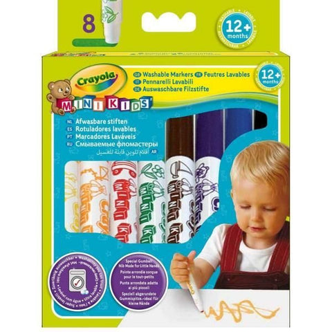 CRAYOLA Mini Kids My First Washable Markers 8 Pack