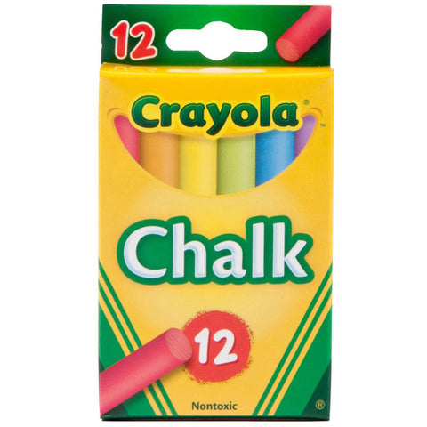 CRAYOLA Multi-Colored Children's Chalk 12 ct.