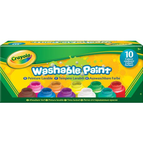 CRAYOLA Washable Paint (10 x 59ml Bottles)
