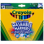 CRAYOLA Washable Ultra Clean Broad line Markers 12