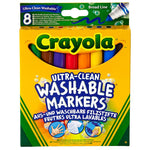 CRAYOLA Washable Ultra Clean Broad line Markers 8