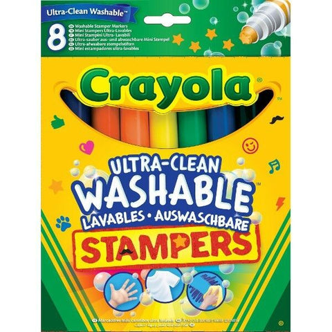 CRAYOLA Washable Ultra Clean Stamper Markers 8