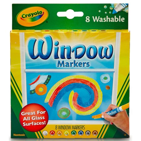 CRAYOLA Washable Window Markers 8