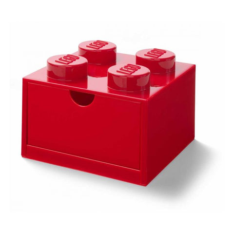 LEGO® 4-stud Red Storage Brick Drawer