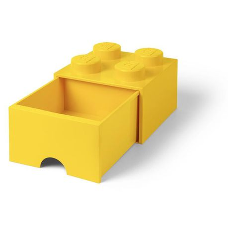 LEGO® 4-stud Yellow Storage Brick Drawer