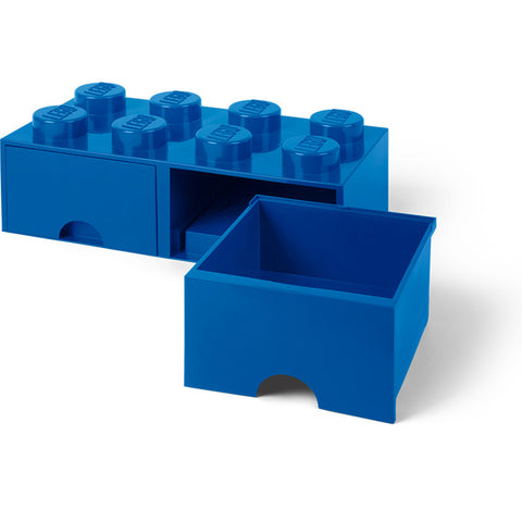 LEGO® 8-stud Blue Storage Brick Drawer