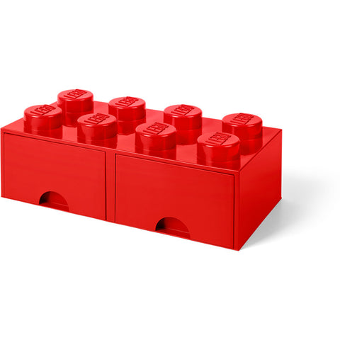 LEGO® 8-stud Red Storage Brick Drawer