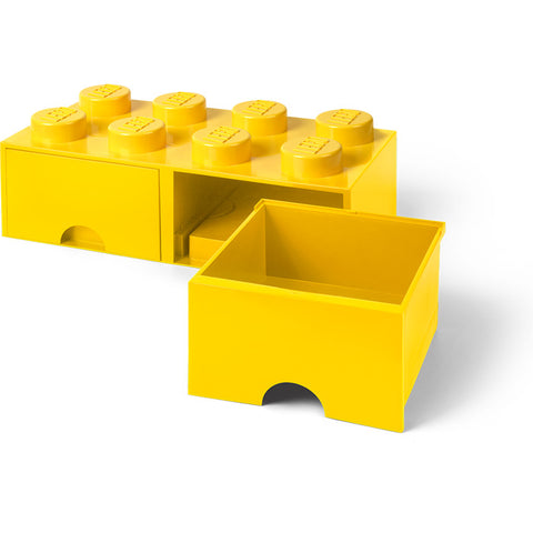 LEGO® 8-stud Yellow Storage Brick Drawer