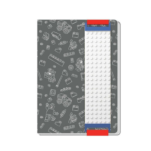 LEGO® Journal with Building Band (Grey)