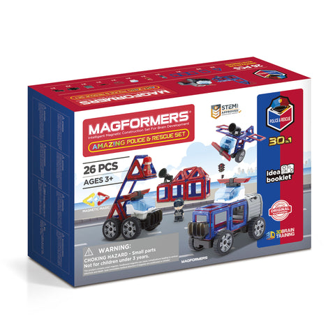 MAGFORMERS Amazing Police And Rescue Set 26 Pcs 717001