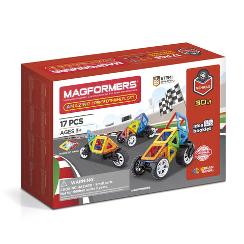 MAGFORMERS Amazing Transform Wheel Set 17 Pcs