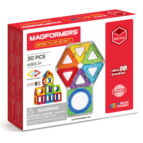 MAGFORMERS Basic Plus Set 30 Pcs | Ages 3+ | 715015