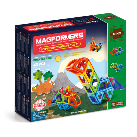 MAGFORMERS Mini Dinosaur Set 40 Pcs