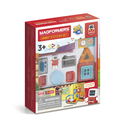 MAGFORMERS Minibot's Kitchen Set 33 Pcs