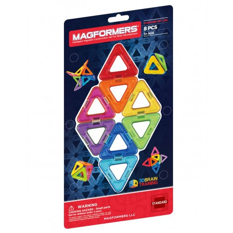 MAGFORMERS Rainbow Triangle Add-on Set 8 Pcs