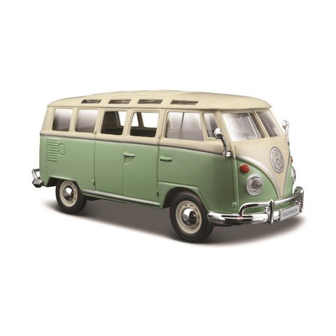 MAISTO 1:25 Scale Die-Cast Special Edition Volkswagen Samba Van in Green
