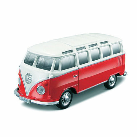 MAISTO 1:25 Scale Die-Cast Special Edition Volkswagen Samba Van in Red