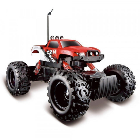 MAISTO Tech R/C Off-Road Series Rock Crawler in  Red/White