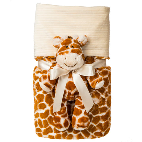 Mary Meyer Marshmallow Giraffe Cuddle Blanket Set - 71x101cm