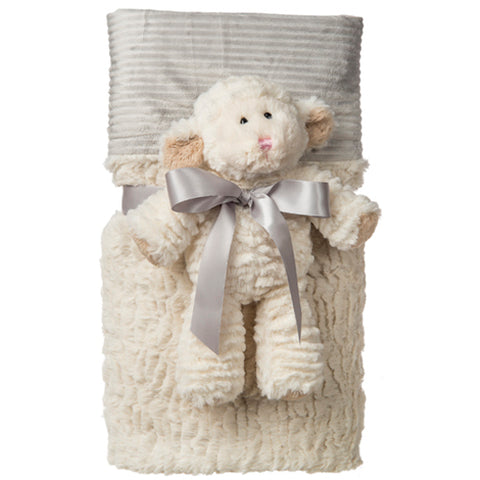 Mary Meyer Marshmallow Lamb Cuddle Blanket Set – 71x101cm