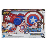 NERF Power Moves Captain America Shield Sling-disc Blaster