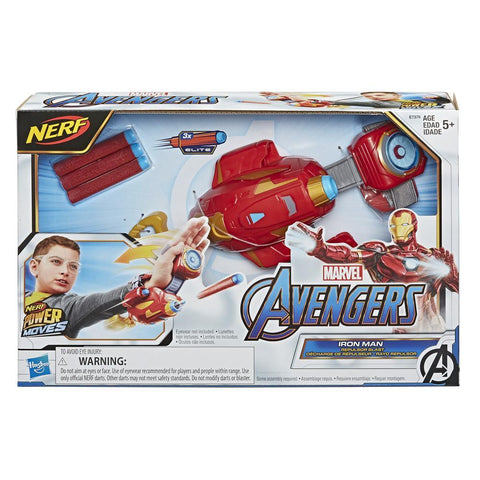 NERF Power Moves Iron Man Repulsor Blast Gauntlet Dart Blaster
