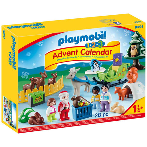 PLAYMOBIL 1.2.3 Christmas In The Forest Of Animals Advent Calendar 9391