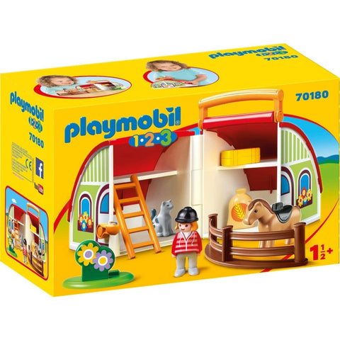 PLAYMOBIL 1.2.3 My Take Along Farm 70180
